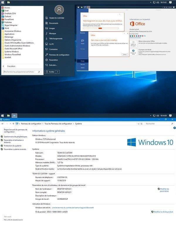 telecharger WINDOWS 10 PRO LIGHT & OFFICE NEWS EDITION 2019 1809 (Build 17763 529) x64 FR Optimise